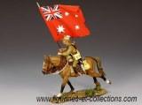 Mounted Australian Flagbearer w/ Red Ensign