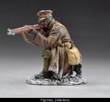 Kneeling Rifleman in greatcoat