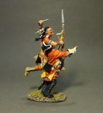 JJD QB-45 Woodland Indian Attacking Line Infantry