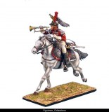French 5th Cuirassiers Trumpeter Charging