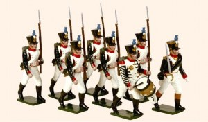 French Line Infantry Fusiliers Marching