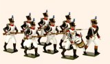 French Line Infantry Fusiliers advancing