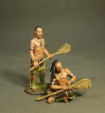 Woodland Indians, Lacrosse Players, Prepare.   (2 pcs)