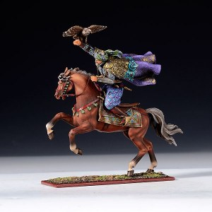 AE 6207.2 Arab Warrior Charging, Holding Hawk
