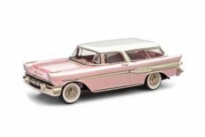 "BM BRK227p 1957 Pontiac Safari 2-Door Station Wagon ""Pink Collection"" with luxury box"