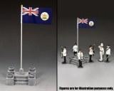 CHK010 Ceremonial Flag Base & British Crown Colony of Hong Kong Flag