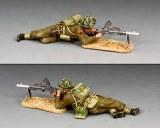 DD342(B) Lying Prone Bren Gunner' w/Sand base