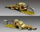 DD342(G) Lying Prone Bren Gunner' w/Grass base