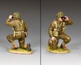 DD337(G) Kneeling British Officer (w/ Grass base)