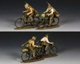 JN044 Japanese Riding Their Bicycles