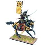 SAM042 Mounted Samurai Charging with Katana - Takeda Clan