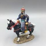 SR002C MANCHU OFFICER ON BLACK HORSE RETIRE