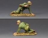 USMC046 Kneeling Marine w/ Pistol